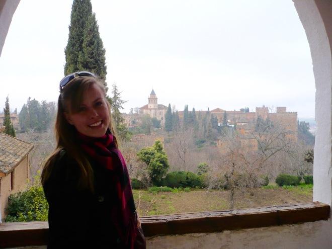 view of granada, granada, la alhambra, spain