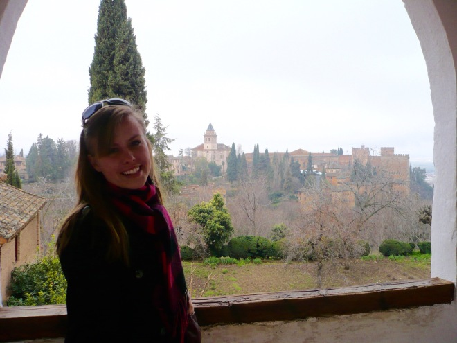 view of granada, granada, la alhambra, spain