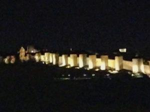 Avila, Spain at night #avila #spain #wall #europe #history