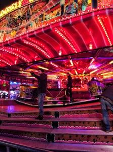 Colorful ride at the Fair, Hull, UK