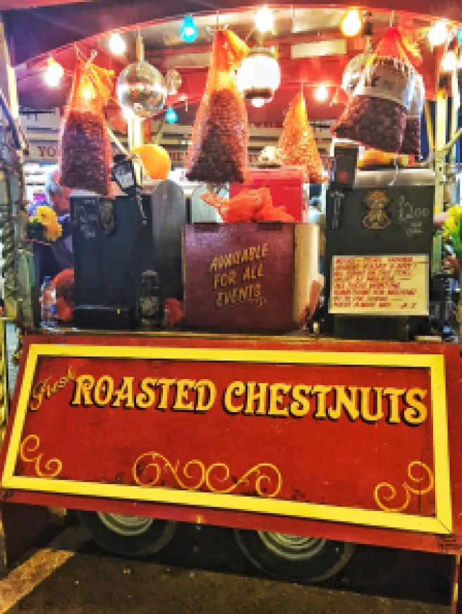 Roasted Chestnuts at the Fair, Hull, UK