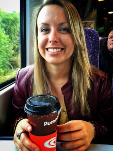 Coffee on a train