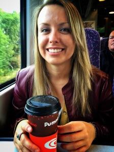 Coffee on a train
