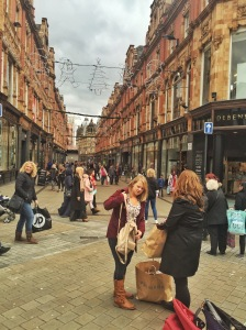 Pretty street in Leeds, UK