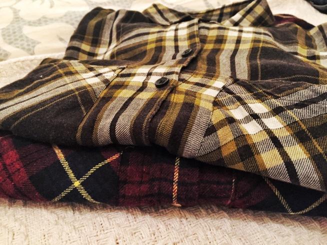 Flannel shirts, shopping, fall, autumn