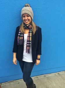 fall outfit blazer jeans