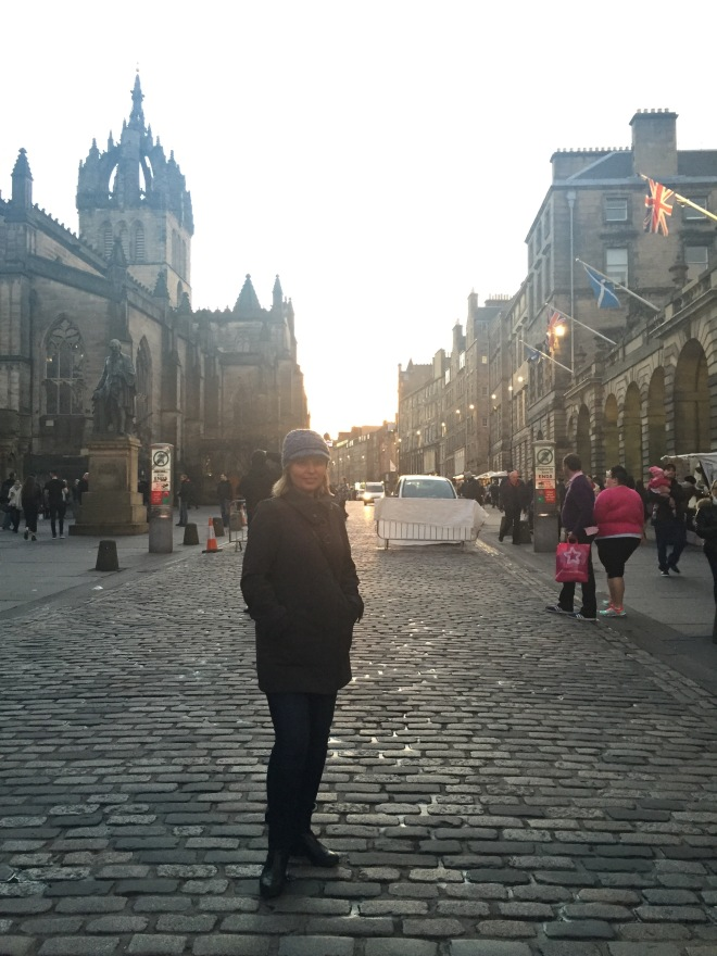 Mom on the Royal Mile