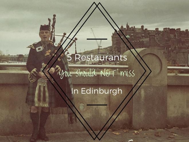 5 restaurants to not miss in scotland